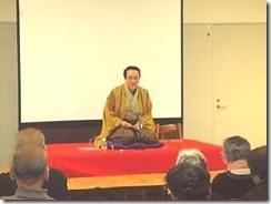 三遊亭楽春の健康落語講演会、笑いは健康の良薬
